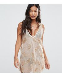 Wolf & Whistle - Sequin Beach Dress - Lyst