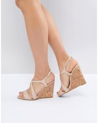 Dune - Leather Summer Cork Wedges - Lyst