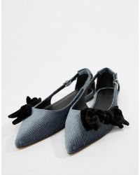 df4485e9afa5 ASOS Laboratory Pointed Mule Ballets in Black - Lyst