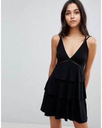 ASOS | Strappy Mini Sundress With Tier And Ladder Trim | Lyst