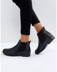 Boohoo - Flat Chelsea Boot - Lyst