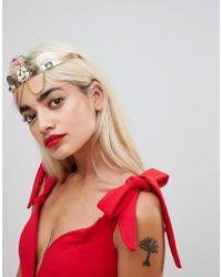 ASOS - Statement Gem Filigree Crown Headband - Lyst