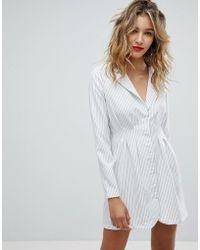 Missguided - Stripe Blazer Dress - Lyst