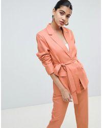Fashion Union - Tie Waist Blazer Co-ord - Lyst
