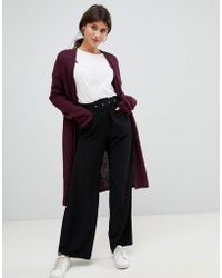 Vila - Knitted Long Cardigan - Lyst
