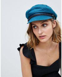 Brixton - Teal Baker Boy Hat - Lyst
