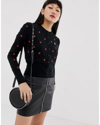 Fred Perry - Amy Winehouse Foundation Heartprint Cardigan - Lyst