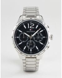 Tommy Hilfiger - 1791469 Chronograph Bracelet Watch In Silver 46mm - Lyst