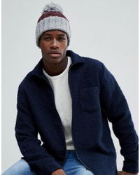 French Connection - Block Colour Bobble Beanie - Lyst