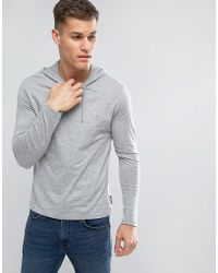 French Connection - Hooded Long Sleeve Top - Lyst
