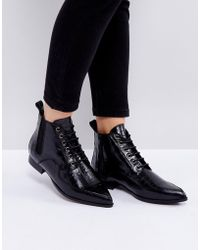 INTENTIONALLY ______ - Brad Black Lace Up Ankle Boots - Lyst