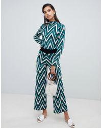 Vero Moda - Chevron Stripe Knitted Trouser - Lyst