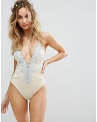 Blue Life - Bridal Embroidered Eclipse Swimsuit - Lyst