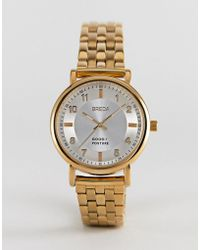 Breda - Unisex Gold Plated Watch In Gold - Lyst