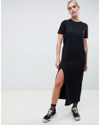 ff0f6b71eb63 ASOS Asos Design Tall High Neck Maxi Dress In Crepe in Black - Lyst