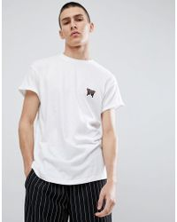 New Look - T-shirt With Butterfly Embroidery In White - Lyst