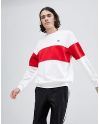 Converse - Cons Crew Neck Sweatshirt In White 10005686-a01 - Lyst