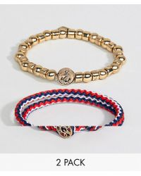 Icon Brand | Beaded & Cord Bracelet In 2 Pack Exclusive To Asos | Lyst