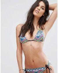 Hobie - Tassel Trim Triangle Bikini Top - Lyst