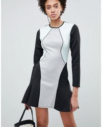 ASOS - Design Colourblock Pephem Shift Dress - Lyst