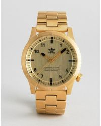 adidas - Z03 Cypher Bracelet Watch In Gold - Lyst