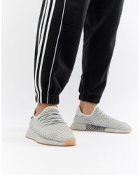 online retailer f42d4 77824 adidas Originals - Deerupt Runner Sneakers In Gray Cq2628 - Lyst