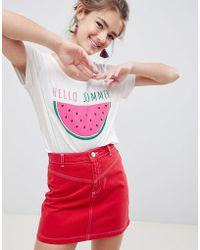 Blend She - Paulina Watermelon Print T-shirt - Lyst