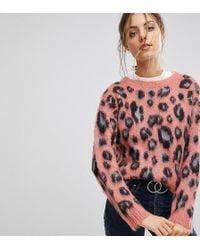 Esprit - Animal Print Sweater - Lyst