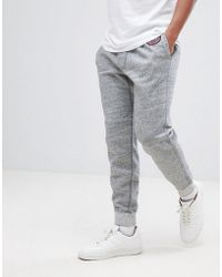 Abercrombie & Fitch - Heritage Varsity Badge Logo Cuffed Joggers In Grey Marl - Lyst