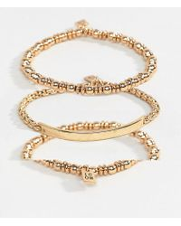 Icon Brand - Gold Chain Bracelets In 3 Pack - Lyst