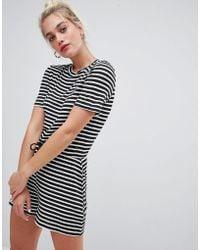 Daisy Street - Playsuit With Tie Waist In Stripe - Lyst