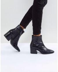 7a7eaa5c8e4 Vagabond - Olivia Black Leather Ankle Boot - Lyst