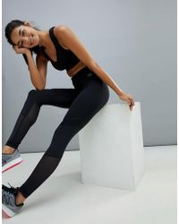 New Balance - Training Determination Mesh Panel Legging In Black - Lyst