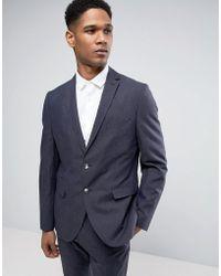 SELECTED - Slim Suit Jacket In Linen Mix - Lyst