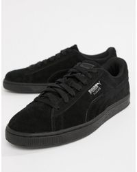 63079e3489a8 Puma Suede Classic Black Trainers in Black for Men - Lyst