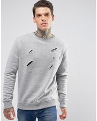 Noose And Monkey - Distressed Sweat - Lyst