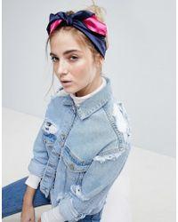 ASOS   Colourblock Headscarf   Lyst