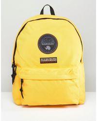 Napapijri - Voyage Logo Backpack In Yellow - Lyst