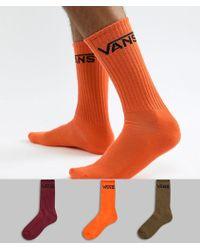 Vans - 3 Pack Socks In Multi Vn000xseflm1 - Lyst