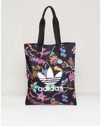 adidas Originals - Floral Print Reversible Tote Bag - Lyst