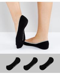 French Connection - 3 Pack Foot Socks - Lyst