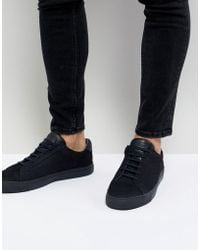 Kurt Geiger - Donnie Trainers In Navy - Lyst