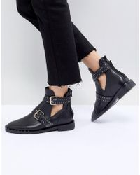 Stradivarius - Multi Buckle Cut-out Boot - Lyst
