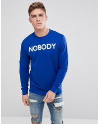 Only & Sons - Crew Neck Sweat With Nobody Logo - Lyst