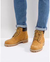 Jack & Jones - Nubuck Boots With Warm Lining - Lyst