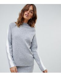 65bed2206d Micha Lounge - High Neck Jumper With Side Stripe Co-ord - Lyst