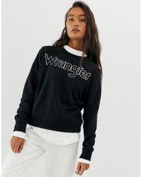 Wrangler - Metallic Logo Sweatshirt - Lyst