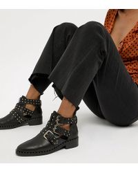 ASOS - Aries Leather Studded Ankle Boots - Lyst