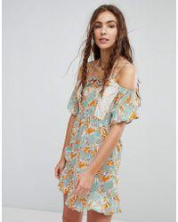 Maaji - Flower Print Cold Shoulder Dress - Lyst