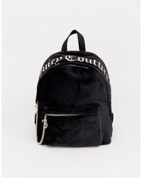 Juicy Couture - Juicy Black Label Delta Backpack In Black Velvet - Lyst